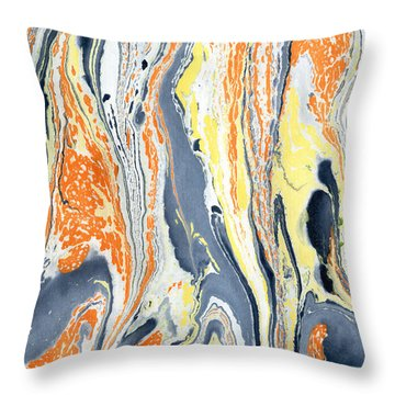 Throw Pillow featuring the painting Boiling Lava by Menega Sabidussi