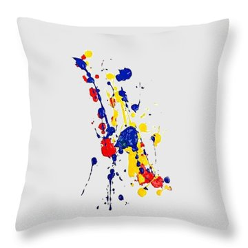 Boink T-shirt Throw Pillow by Herb Strobino