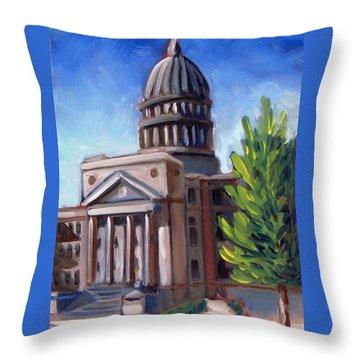 Boise Capitol Building 01 Throw Pillow