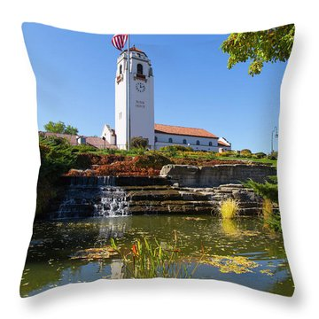 Boise Depot Throw Pillow