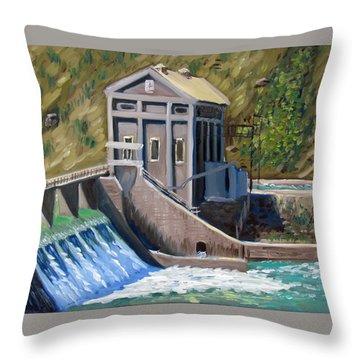 Boise Diversion Dam Throw Pillow