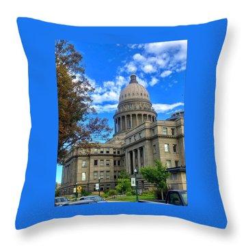 Boise Idaho Capitol Bldg Throw Pillow