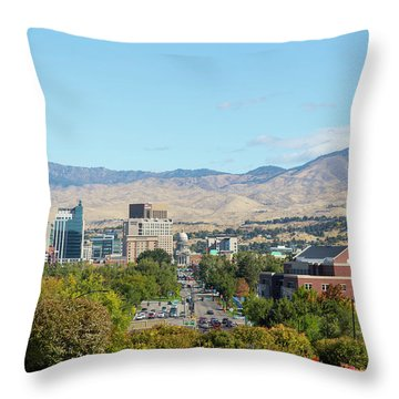Boise Skyline Throw Pillow