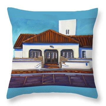 Boise Train Depot Throw Pillow