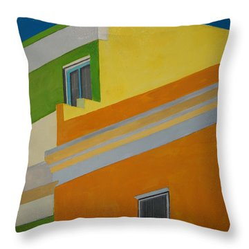 Bokaap Green Throw Pillow