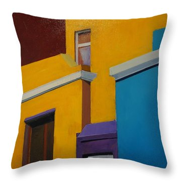 Bokaap Indian Yellow Throw Pillow