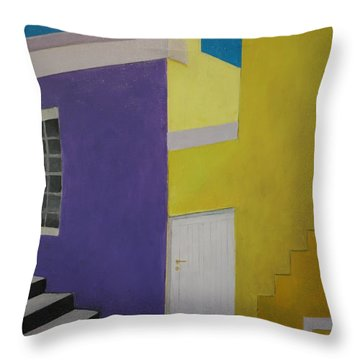Bokaap Purple Throw Pillow