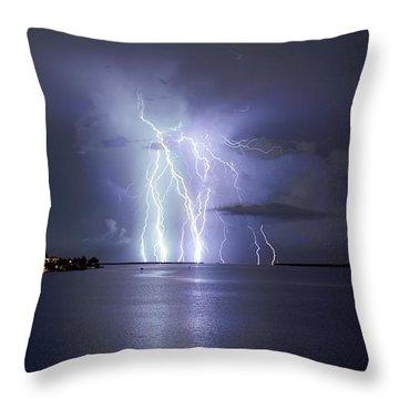 Bokeelia Nights Throw Pillow