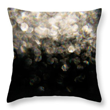 Throw Pillow featuring the photograph Bokeh Cloud by Greg Collins