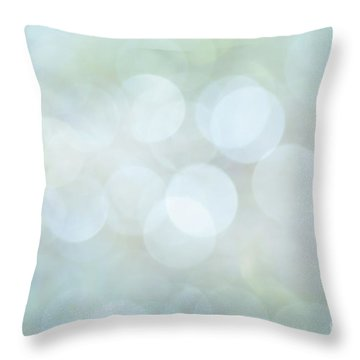 Throw Pillow featuring the photograph Bokeh Clouds by Jan Bickerton