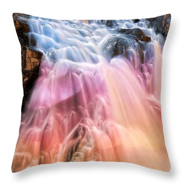 Bokeh Fantasy Falls Throw Pillow