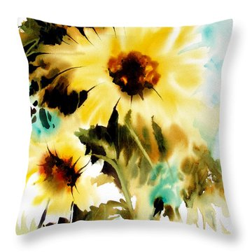 Throw Pillow featuring the painting Bold And Beautiful by Rae Andrews
