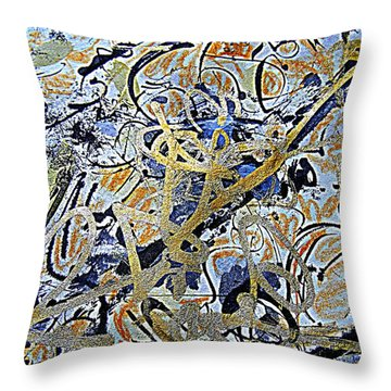 Bold And Brave Throw Pillow by Nancy Kane Chapman