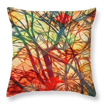 Bold And Colorful Throw Pillow