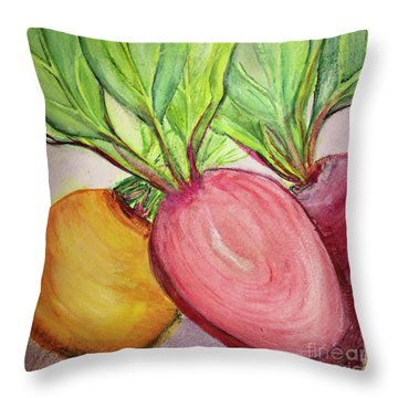 Bold Beets Throw Pillow