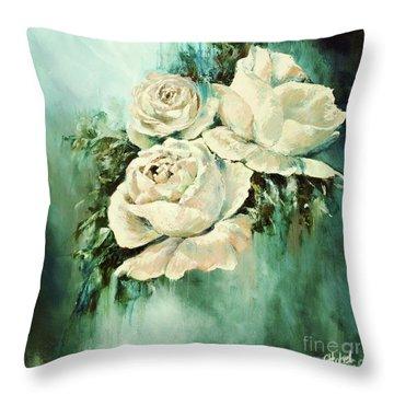 Bold Blooms Throw Pillow