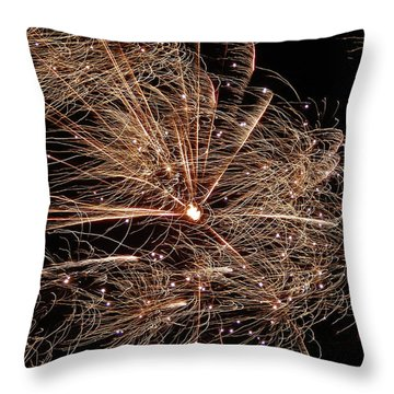 Throw Pillow featuring the photograph Bold Burst #0711 by Barbara Tristan