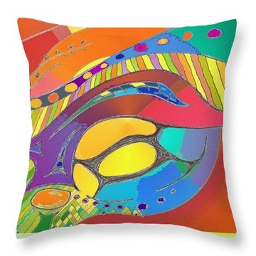 Bold Organic - Life Is Bright With Variety Throw Pillow