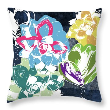 Bold Succulents 2- Art By Linda Woods Throw Pillow