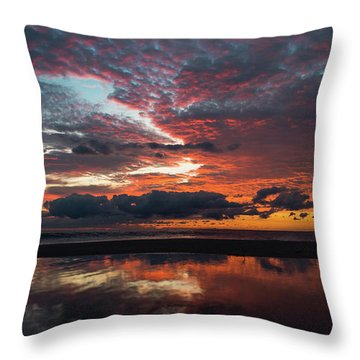 Bold Sunrise Delray Beach Florida Throw Pillow