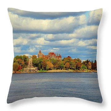 Boldt Castle Throw Pillow