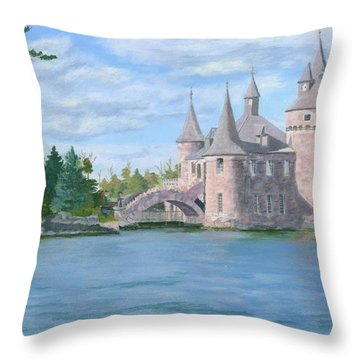 Throw Pillow featuring the painting Boldt's Power House by Lynne Reichhart