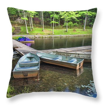 Boley Lake Throw Pillow by Mary Almond