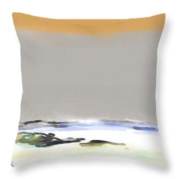 Bolinas Beach Walker Throw Pillow