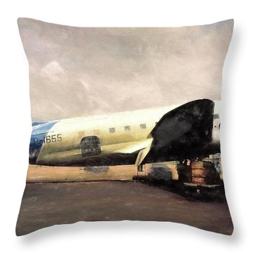 Bolivian Air Throw Pillow by Michael Cleere
