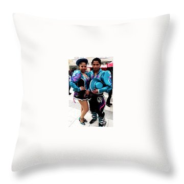Bolivian Couple Dancers Throw Pillow