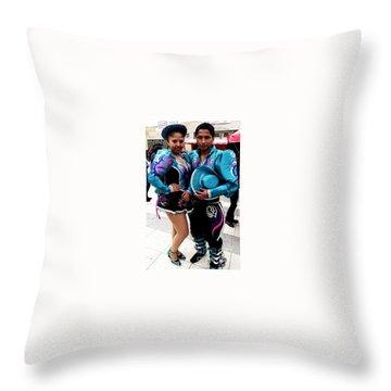 Bolivian Couple Dancers Throw Pillow