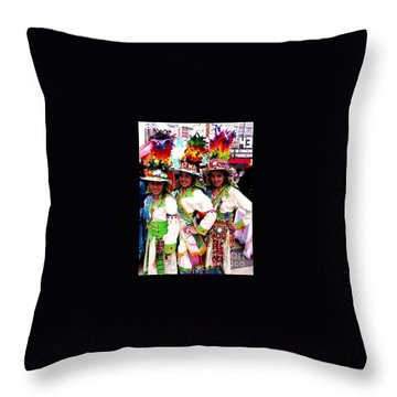 Bolivian University Student Dancers 1 Throw Pillow