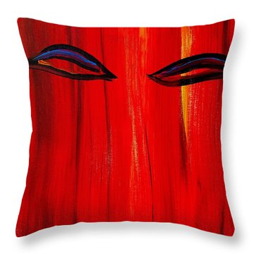 Bollywood Eyes Throw Pillow