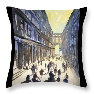Throw Pillow featuring the painting Bologna Sunset- Italy by Ryan Fox