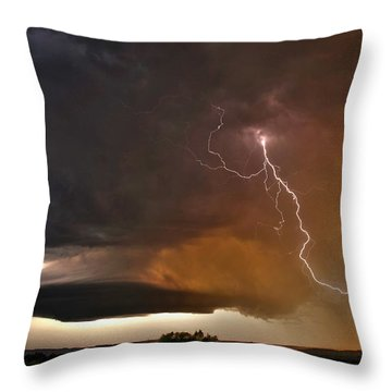 Bolt From The Heavens. Throw Pillow