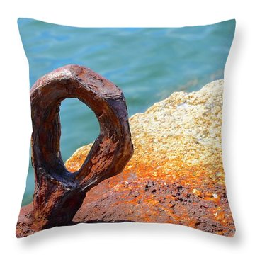 Throw Pillow featuring the photograph Bolted by Corinne Rhode