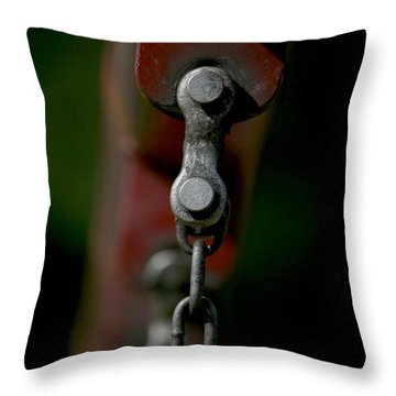 Throw Pillow featuring the photograph Bolts by Cathy Harper