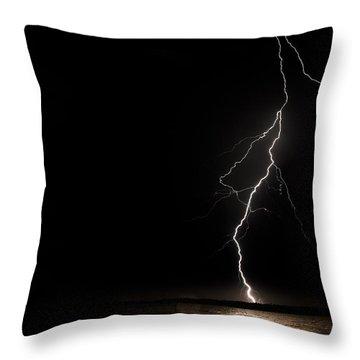 Bolts On Lake Houston Throw Pillow