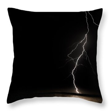 Bolts On Lake Houston Throw Pillow by Allen Biedrzycki