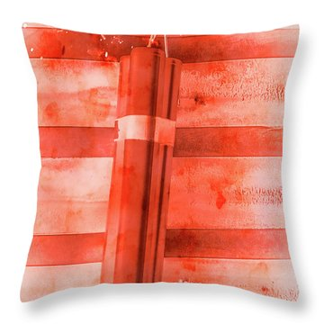 Bomb Of The Betrayal Throw Pillow