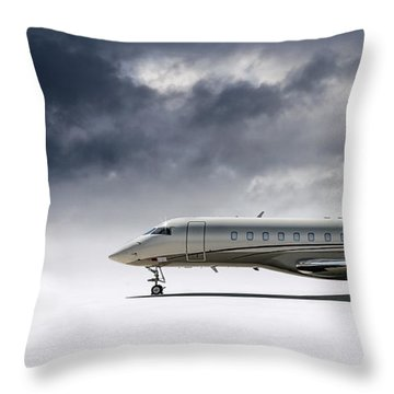 Bombardier Global 5000 Throw Pillow