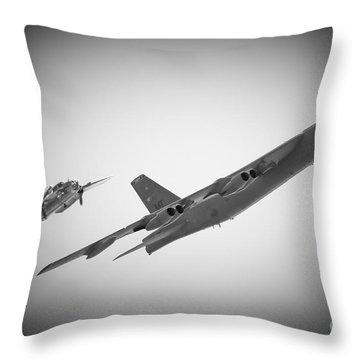 Bomber Pair Throw Pillow by Bob Mintie