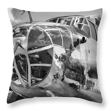Bomber's Eye View Throw Pillow