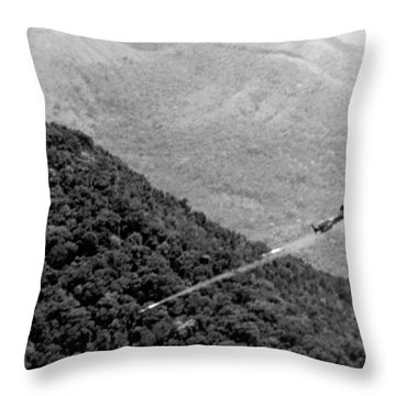 Bombing Vietnam Throw Pillow