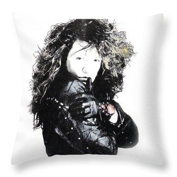 Bon Jovi Throw Pillow by Gina Dsgn