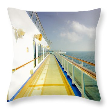 Throw Pillow featuring the photograph Bon Voyage 2a by Joseph Hollingsworth