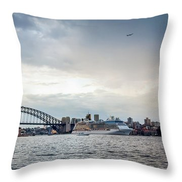 Bon Voyage Throw Pillow by Az Jackson