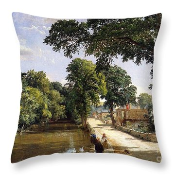 Bonchurch Isle Of Wight Throw Pillow by Jasper Francis Cropsey