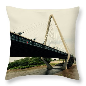Throw Pillow featuring the photograph Bond Bridge  Kansas City Missouri by Karen Kersey