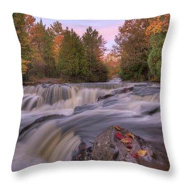 Bond Falls Sunset Throw Pillow